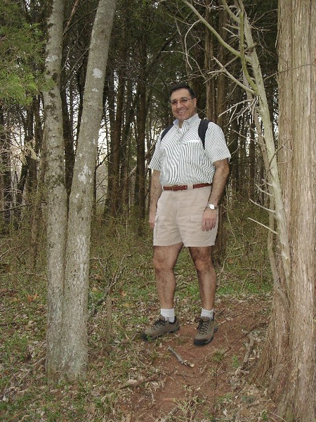 April 1, 2006: At the head of the 5.5-mile First Manassas Trail at the Manassas Battlefield Park.