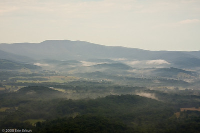Shenandoah Valley in the morning mist.