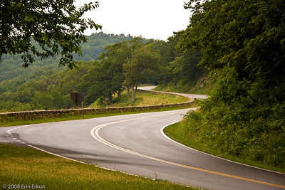 Skyline Drive is a winding road that seems to go on forever.