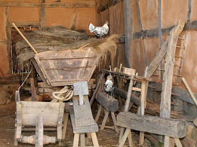 These items would be typical of what might be stored in a German barn.