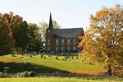 One of many churches along the rural roads to Mt Solon, Virginia.