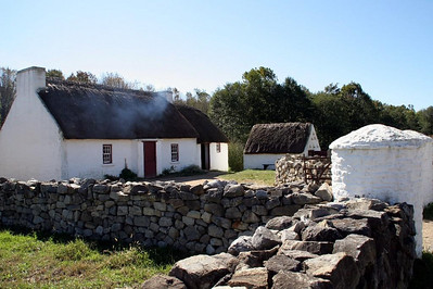 The Scotch-Irish farm, just down the lane from the German Farm, dates back to the 1700s and originally stood in County Tyrone, in Northern Ireland — in the part of the country traditionally known as Ulster.