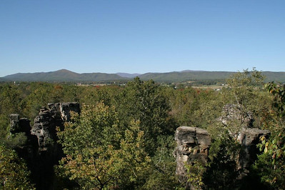 A short hike takes us up to an overlook above the chimneys for an expansive view of the Shenandoah Valley.