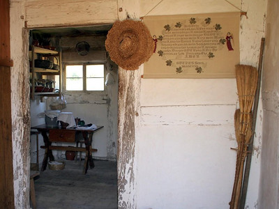 The vestibule of the German farmhouse.