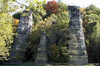 Some people liken the chimneys to the remains of a medieval castle — carved out of the surrounding rock.