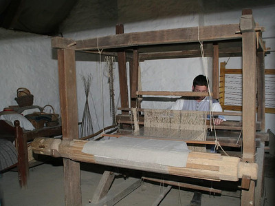 Weaving linen was one of the things the immigrants from Ireland did in their homeland.