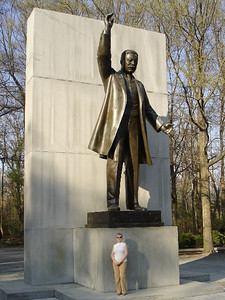 April 3, 2006 Statue of Theodore Roosevelt at the Memorial Plaza on Roosevelt Island.