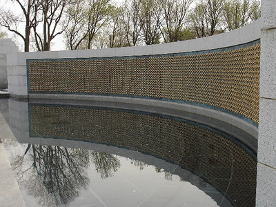 "The ""Wall of Stars"" at the World War II Memorial is a simple, but poignant representation of those who lost their lives during WWII."