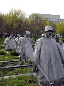 """Soldiers on Patrol"" at the Korean War Veterans Memorial."