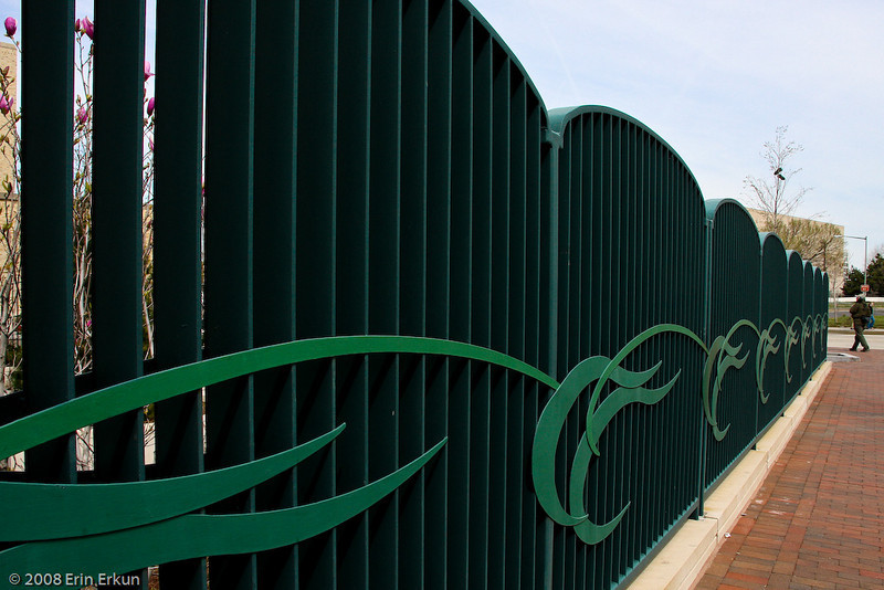 March 29, 2008<br /> On our way to the Tidal Basin, the repetitive nature of this fence catches my eye.