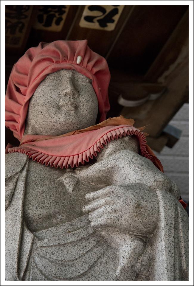 Jizo, the god who protects children.