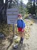 Wilderness boundary! Hikers inbound ...