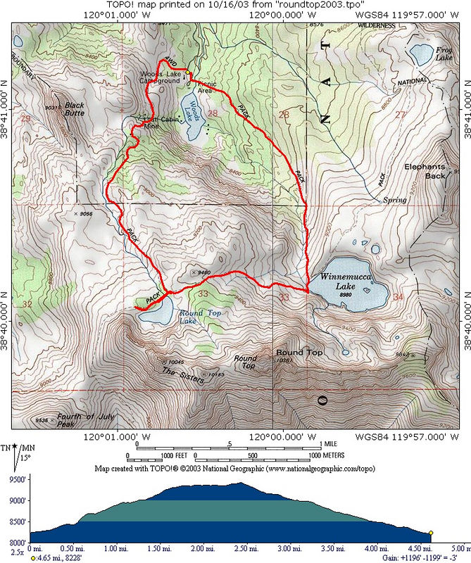 Trail map and profile.