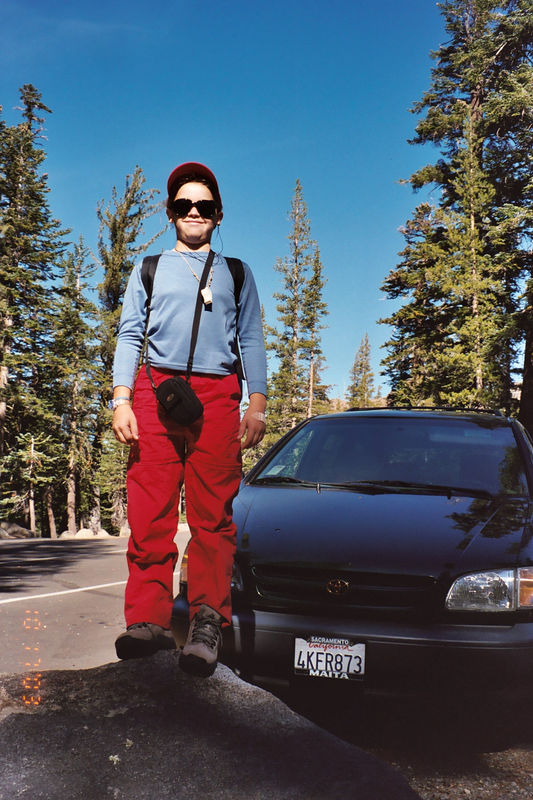Munchkin getting ready to hike. This would be a pretty fast hike, as we had to be home by 6:00 pm, for a volleyball game.