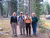 Our hiking group for today. From left: Karen, Frank, Eric, Lisa ... near Wrights Lake ... Thanks to Karen and Lisa, for suggesting the use of Canon PhotoStitch software in making the panoramas included in this photo essay. As they said, it works a lot better than the Photoshop Elements I've been using.