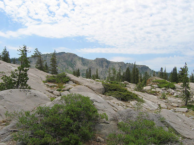 Open granite slope. Getting closer to Black Buttes