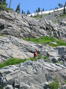 This route had lots of options, many easy gullies