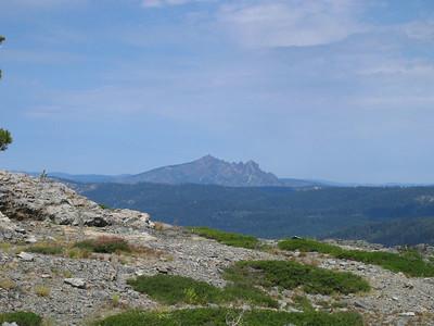 Zoom-in view of Sierra Butte