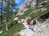 Heading up the trail -- This trail segment is not in Desolation Wilderness, but it is enroute. This route is part of the Pacific Crest Trail and the Tahoe Rim Trail.