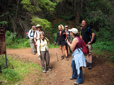 Gathering around, having fun. Some of the other trail destinations have cool names ... Ruck-a-Chucky? Dead Truck?