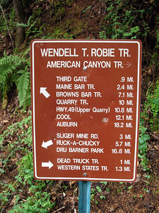 We started at the Third Gate and will meet up with the Western States Trail. The latter trail is the route for the Western States 100, a grueling trans-sierra endurance run.