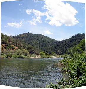 Looking at Poverty Bar, across the Middle Fork of the American River
