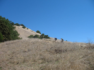 Heading up in the open. The sun was really bright! Glad I loaded up on sunscreen.
