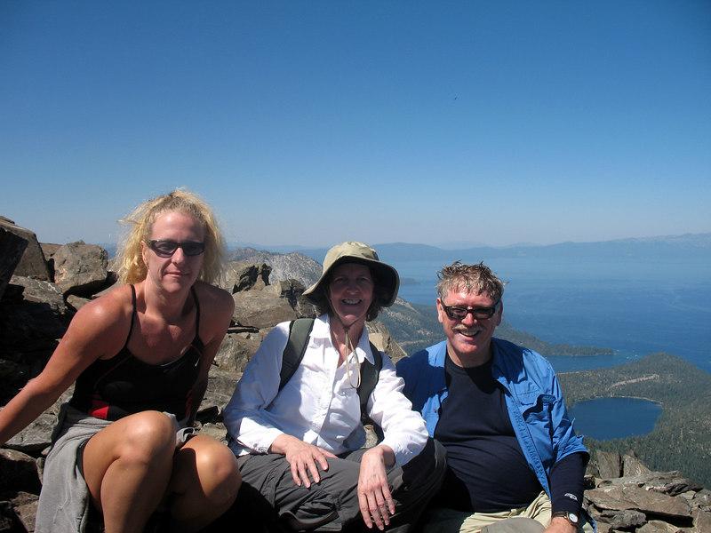 Bree, Bonnie, Frank on Mt. Tallac.