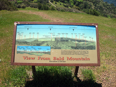 Bald Mt signboard - South view