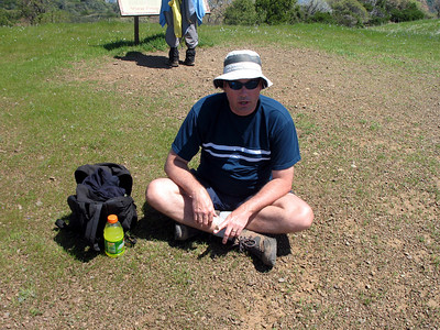 Ray. It was great hiking with him again. He drove up from Mariposa. We hiked the Baldy-Devil's Backbone Loop in 2004.