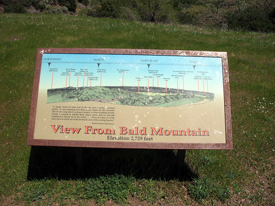 Bald Mt signboard - North view
