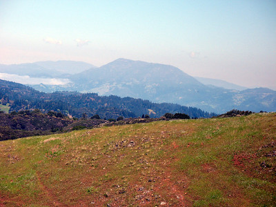 Zoomed in on Mt St. Helena. The Palisades are to the right.