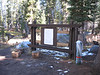 The wilderness permit kiosk at Wrights Lake has been dismantled for the winter.