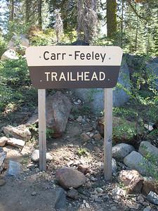Carr-Feely Trailhead sign.