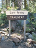 Carr-Feely Trailhead sign.