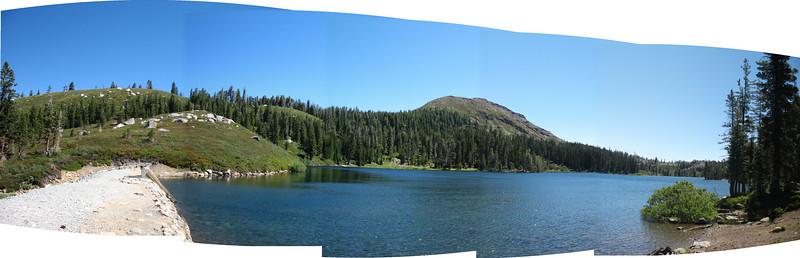 Feely Lake panorama, with Fall Creek Mountain.