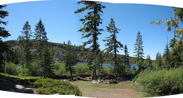 Carr Lake panorama. This is a very heavily used area, but it is still beautiful.