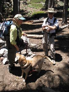 At Round Lake. GariRae, Rich, and Tanner.