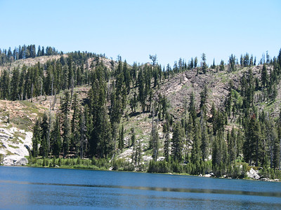 Island Lake. The wind began to blow stronger, sending lots of zephyrs across the lake.
