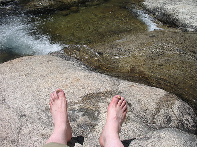 Frank's feet. The water felt very good!