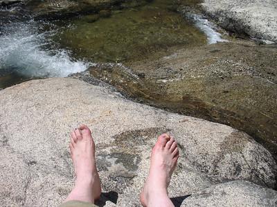 Frank's feet. The water felt very good!