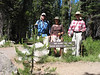 "Our group for today. From right: Larry (AKA WimpeHiker, and our trip leader), Renée, Frank (yours truly). Larry and I previously hiked together at <a href=""http://tiocampo.smugmug.com/gallery/1000614"" target=""_blank"">Stevens Trail in 2004</a>. Today was my first time hiking with Renée, and it was great meeting her."