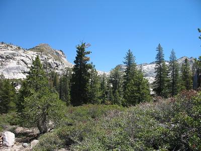 Looking toward Twin Lakes Canyon.