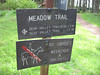 Sky Trail junction with Meadow Trail.