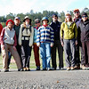 Our group for today. From left: Frank (yours truly), Jean, Howdy, Bonnie, Daniela, Heide, Michael, Karen, Mike, Terri, Rich.