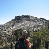 Rich checks out Donner Peak. We'll have a snack first, then hike there cross-country.