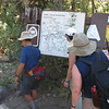 Checking out the trailhead map.