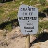 Entering Granite Chief Wilderness.