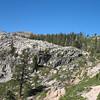 Looking up ahead toward Five Lakes Basin, Squaw Peak.
