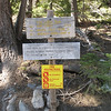 Trailhead mileage sign.